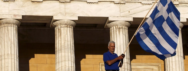 Greeks overwhelmingly rejected conditions of a rescue package from creditors on Sunday, throwing the future of the country's euro zone membership into further doubt.