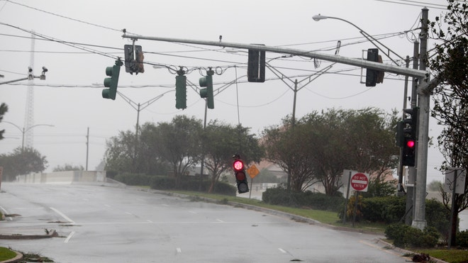 Hurricane Isaac power lines 8-29-2012