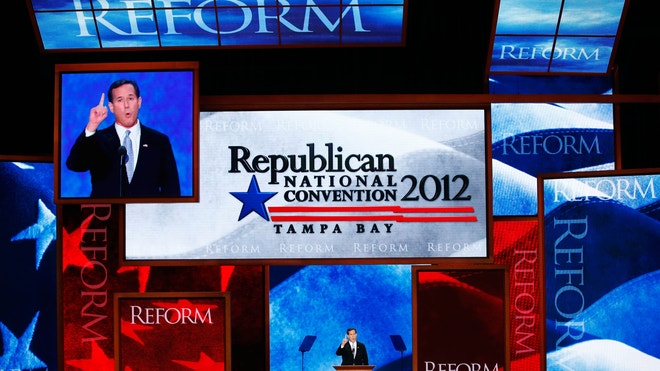 republican national convention 2012 santorum