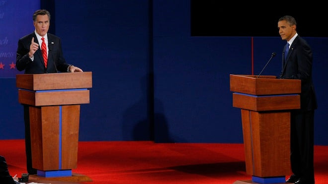 Romney Obama, Presidential Debate