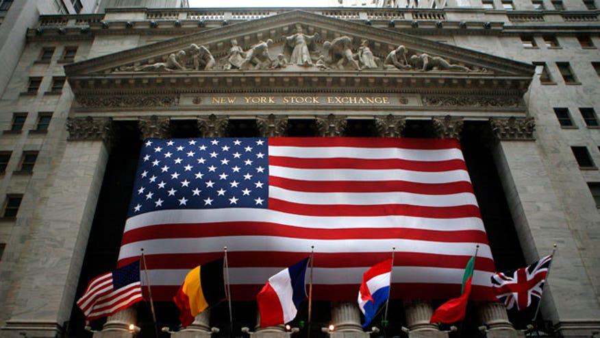 American Flag, US Flag, USA, NYSE, New York Stock Exchange