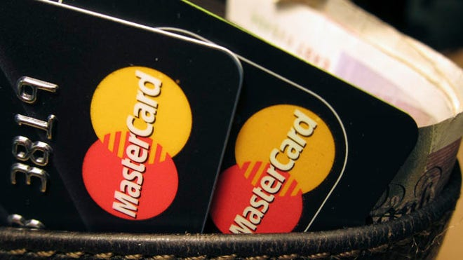 Credit Cards in Wallet Mastercard