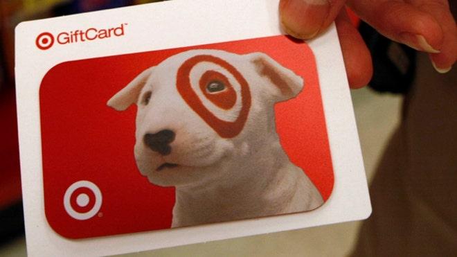 gift card, target