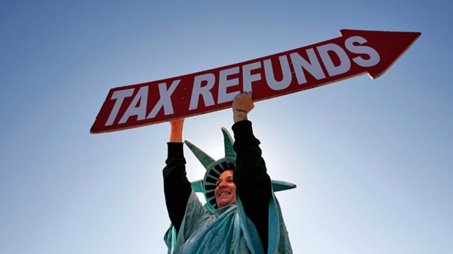Tax Refund, taxes, tax return, Tax Refunds Girl in Liberty Costume