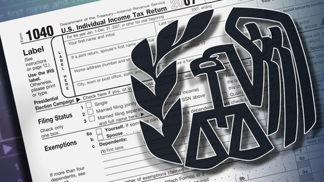 IRS logo tax 1040 form