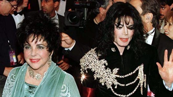 Michael Jackson and Elizabeth Taylor