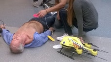 An engineering student in the Netherlands has unveiled an 'ambulance drone' fitted with a defibrillator that he believes could save thousands of lives a year.