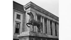 Two life-size bronze horses commissioned to stand outside Adolf Hitlers chancellery disappeared from their last known location in Germany in .