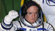 Astronaut Scott Kelly has blasted off on his yearlong mission to the International Space Station.