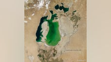 "A series of NASA satellite images has revealed the shocking decline of water levels in the Aral Sea, a massive environmental disaster dubbed ""the quiet Chernobyl."""