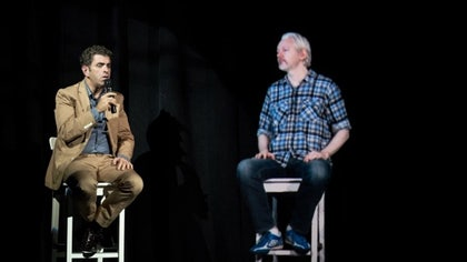 When Wikileaks founder Julian Assange said back in August that he was planning to leave the Ecuadorean Embassy soon, perhaps he was simply referring to a holographic version of himself.