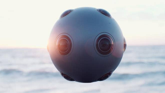 It has a more-than-passing resemblance to one of the most iconic props in movie history, but the new Nokia Ozo doesn't shoot lasers out of its multiple eyes at Luke Skywalker's lightsaber. Instead, it shoots stereoscopic D video using eight sensors and eight built-in microphones in order to create virtual-reality experiences.