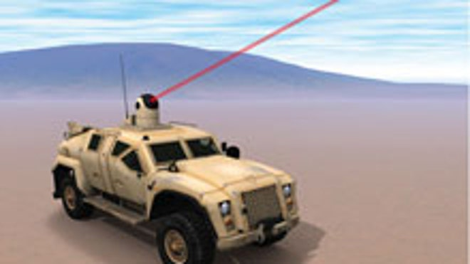 The Office of Naval Research is testing a solid-state, vehicle-mounted laser weapon designed to incinerate a range of air and ground targets such as enemy drones, rockets and even IEDs, service officials told Military.com.