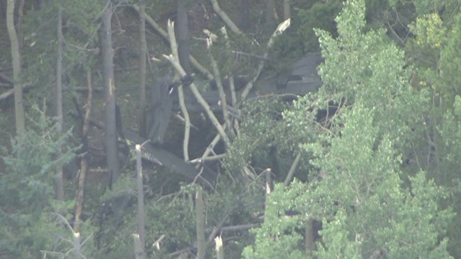 Two soldiers were injured Wednesday after a Blackhawk helicopter crashed during a training mission south of Denver.