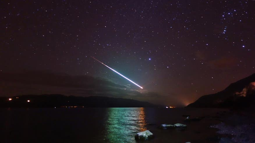 Stunning image shows meteor streaking across sky above Loch Ness