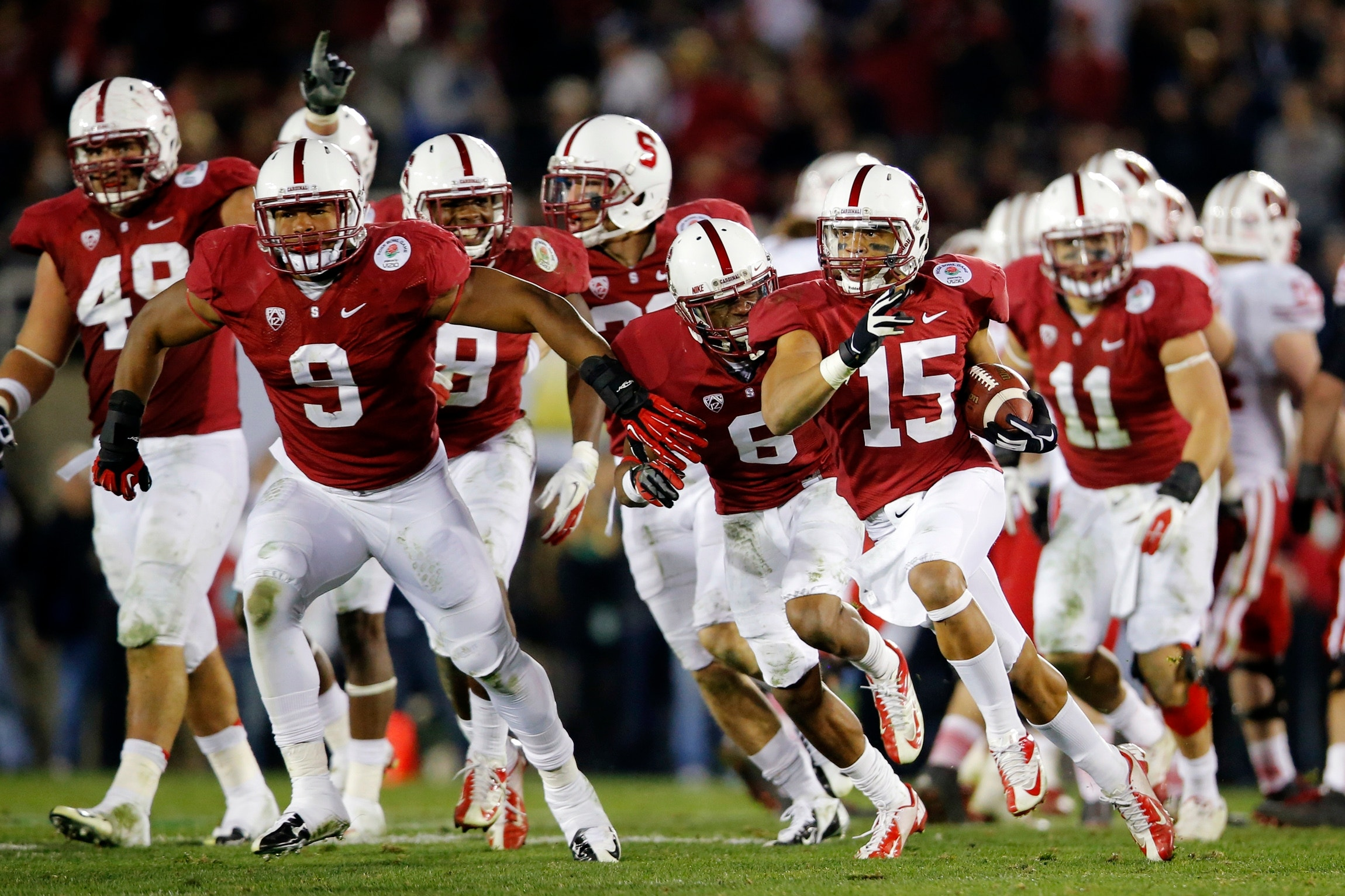 Stanford beats wisconsin 20 14 in rose bowl fox news