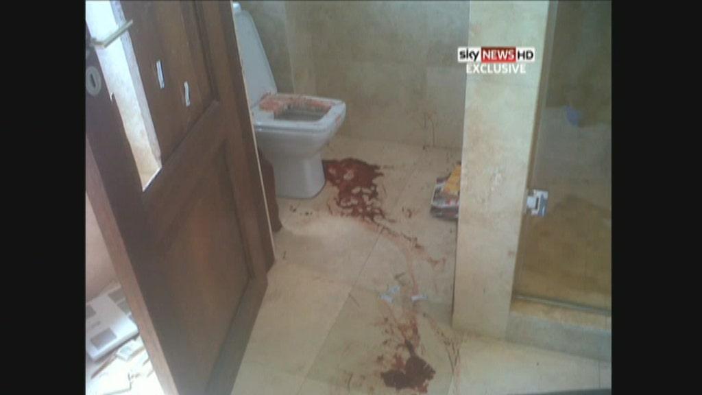 Graphic new photos of crime scene where pistorius shot for Bathroom scenes photos
