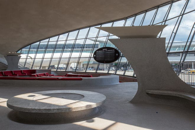 Breathtaking photos of inside the old twa terminal fox news for Jfk airport hotel inside terminal