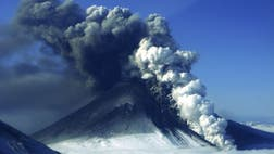 Alaska's remote Pavlof Volcano has been shooting lava hundreds of feet into the air, but its ash plume is thinning and is no longer making it dangerous for airplanes to fly nearby.