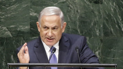 Israeli Prime Minister Benjamin Netanyahu had high praise for President Obama for leading the coalition attacking Islamic militants in Syria, and criticized those who condemned Israel for its war with Hamas in a speech to the United Nations Monday.
