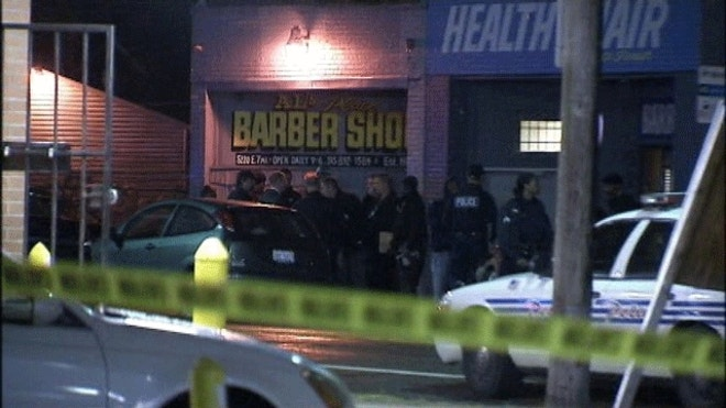 ... the shooting outside Als Barber Shop in Detroit. (MyFoxDetroit.com