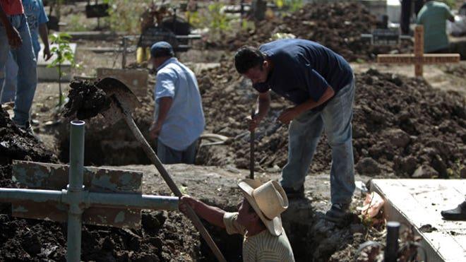 Honduras prison fire graves