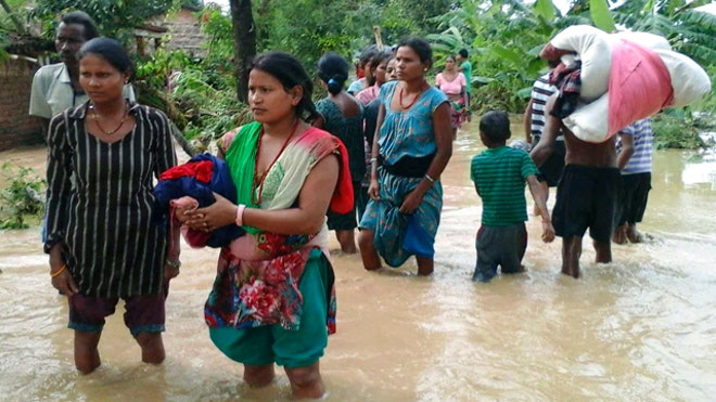 Nepalese authorities on Monday feared an outbreak of diseases as they attempted to reach thousands of people stranded by flooding that has already killed  people and left more than  missing.