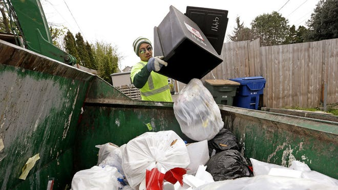 The city wants to recycle or compost  percent of all waste by the end of this year.