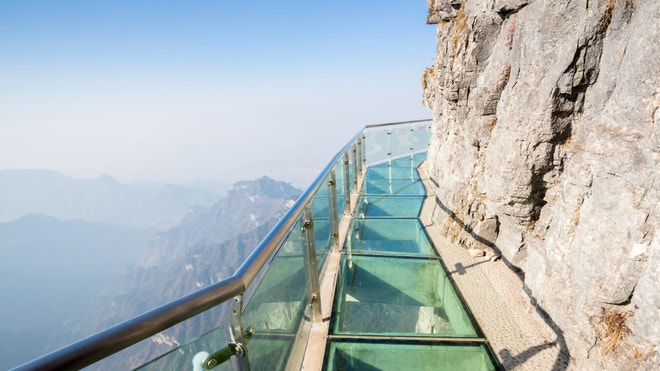 Check out the scariest glass-bottomed attractions from around the world.