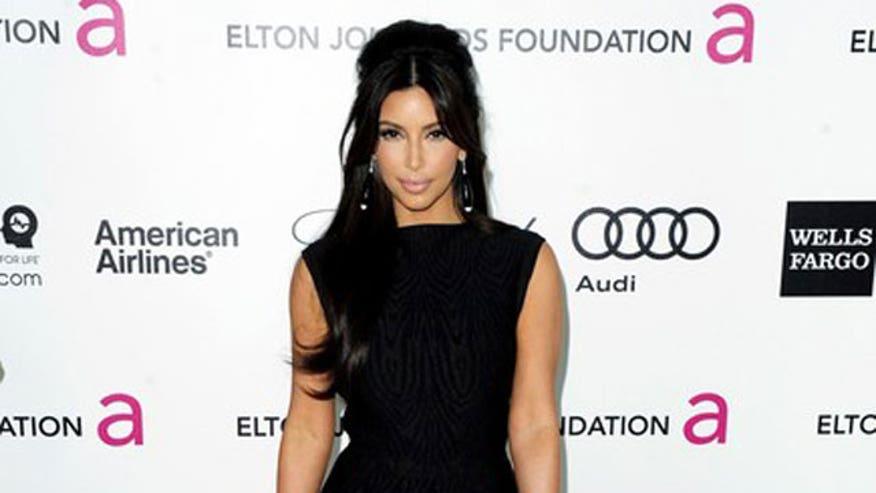 Kim Kardashian in gown