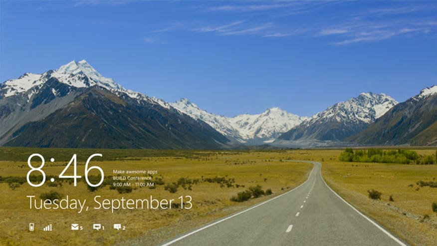 Microsoft Windows 8 Lock Screen
