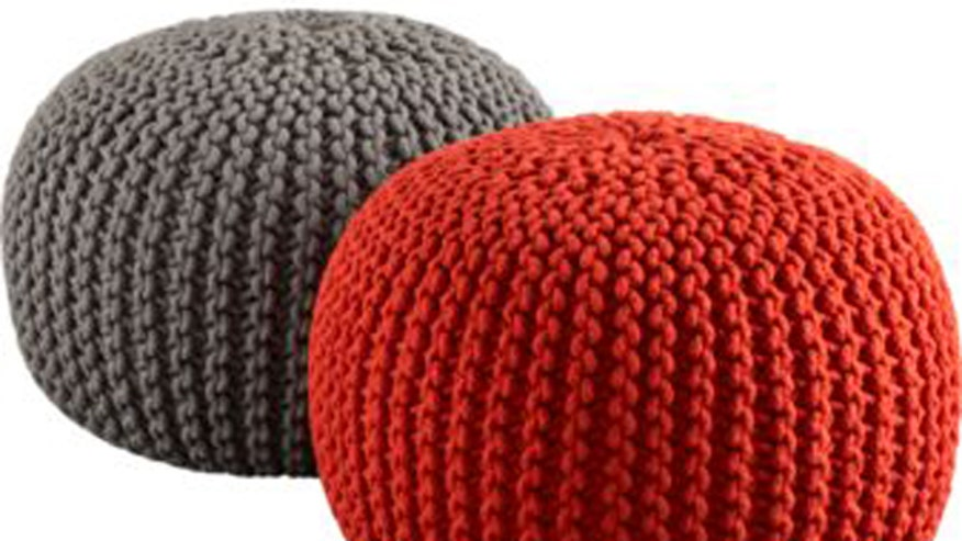 CB2 Knitted Pouf