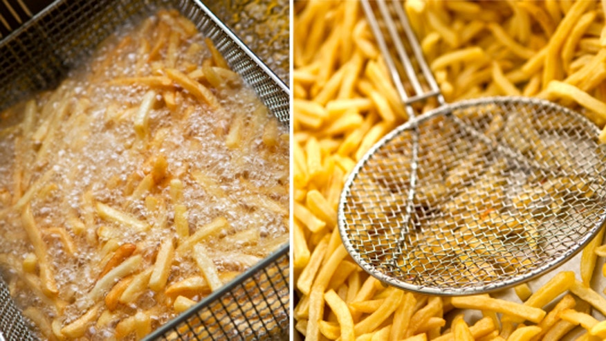 Top tips for foolproof deep frying fox news for Best oil for deep frying fish