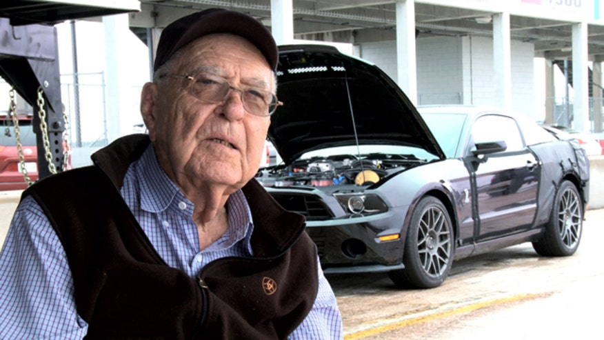 Carroll Shelby with 2013 GT500 prototype