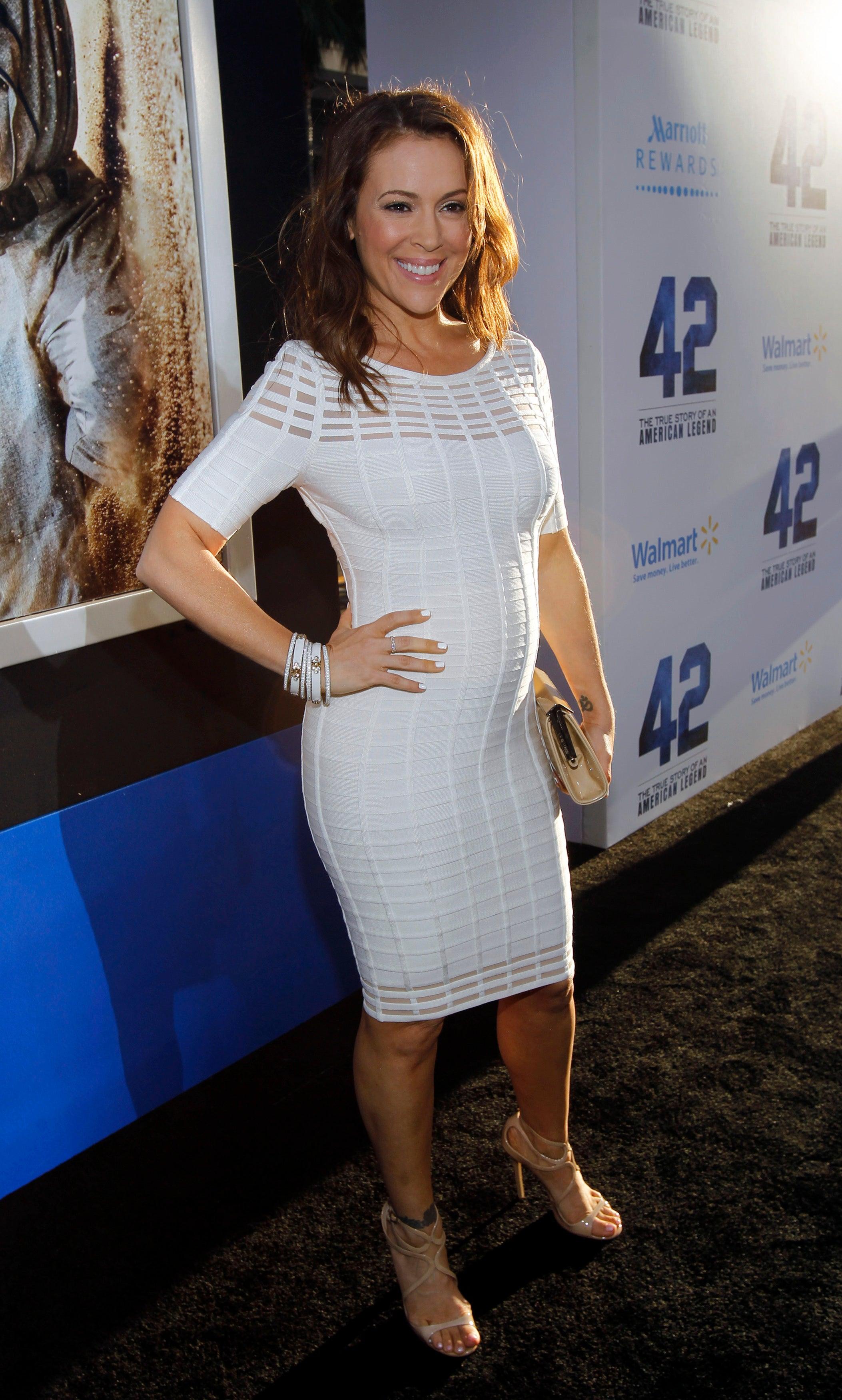 Alyssa Milano Fat 35