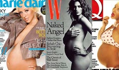 Some stars love to show off their bodies, regardless of the trimester.