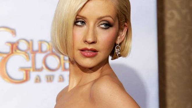 Semi-nude photographs of Christina Aguilera were circulating online ...