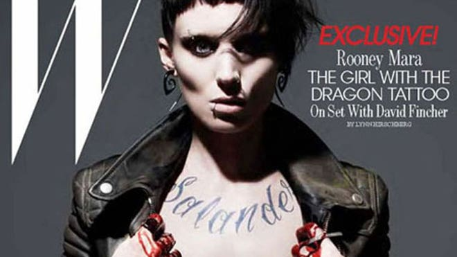 Rooney mara initially 39 freaked 39 over shaved eyebrows and for Girl nipple tattoo