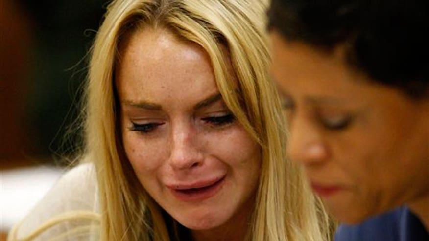 Lindsay Lohan Court Tears 640