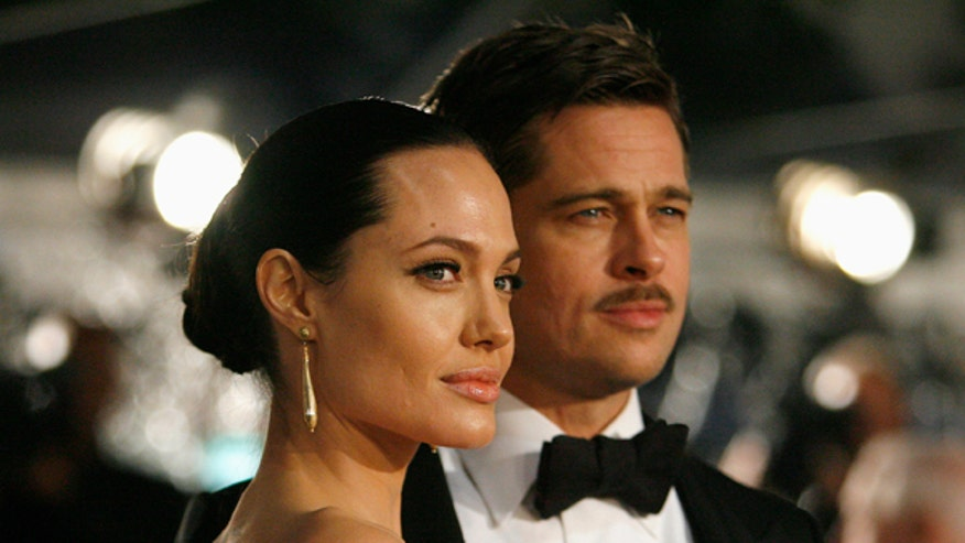 Angelina and Brad Serious