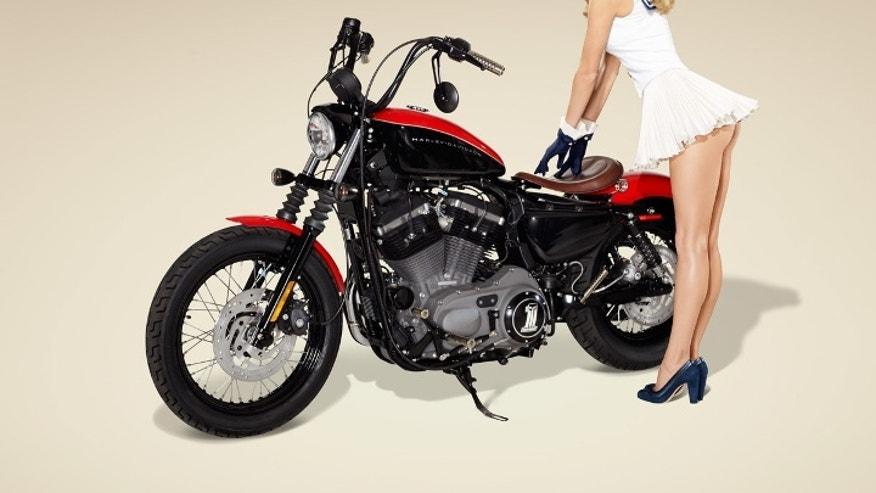 Marisa Miller and Harley-Davidson