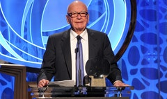 Media mogul Rupert Murdoch got a standing ovation Tuesday night at the rd Hall of Fame gala conducted by The Television Academy, better known as the force behind the Emmy Awards.