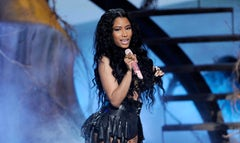 """A giant snake sank its fangs into one of Nicki Minaj's backup dancer's while performing her hit song """"Anaconda"""" during a Friday rehearsal for the MTV Video Music Awards reports The New York Post."""