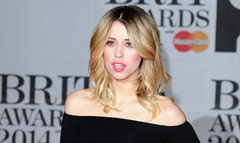 Celebrities have joined the family of Peaches Geldof gathered for the funeral of the British model and TV personality, who died at age  earlier this month.