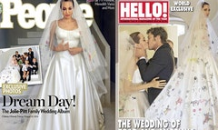 Just over a week afternbspBrad PittnbspandnbspAngelina Jolienbspmarried in a secret ceremonynbspin France, the first photos of the event are out.