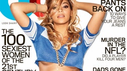 For the February cover of GQ Jay-Z's girl posed in a crop top and tiny leopard underwear.
