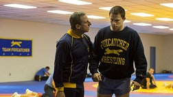 """Steve Carell plays an heir to the DuPont Chemical fortune, John Eleuthere du Pont, in the movie """"Foxcatcher."""""""