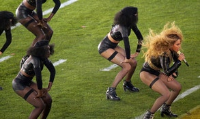 Beyonce almost fell during her big Super Bowl  performance on Sunday  but, unsurprisingly, she recovered like a pro.