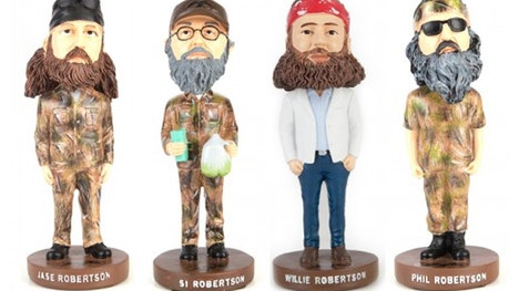 "These ""Duck Dynasty"" Bobblehead dolls are a must-have for any true"