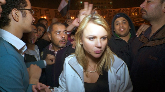 Lara Logan in Egypt crowd